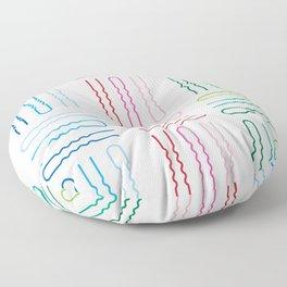 Hair Stylist Pattern Floor Pillow