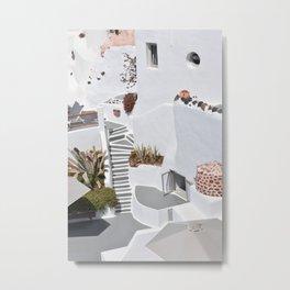 Santorini Architecture, Greece Metal Print