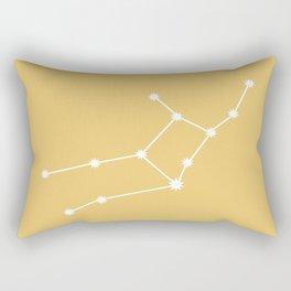 Virgo Zodiac Constellation - Golden Yellow Rectangular Pillow