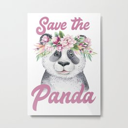 Save the Panda -#2 Metal Print