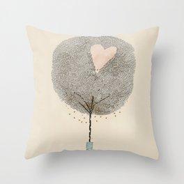 how love grows Throw Pillow
