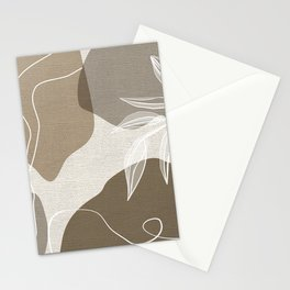 Leafy Lane in Neutral 2 Stationery Cards