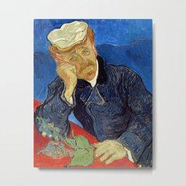 Vincent Van Gogh - Portrait of Dr Gachet Metal Print