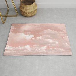 Clouds in a Peach Sky Rug