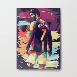Ronaldo on WPAP Pop Art Portrait Metal Print