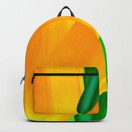Strelitzia reginae (Green version) Backpack