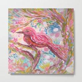 Pink Bird Metal Print