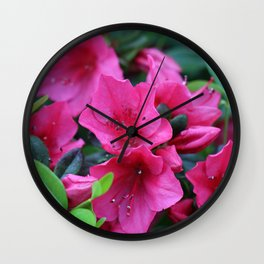 Unwind with a pink rhododendron Wall Clock