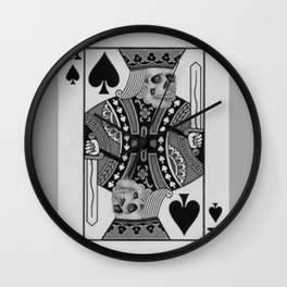 King of Spades Skull Head Wall Clock
