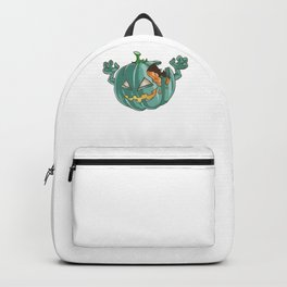 Zombie Pumpkin, It's Show Time Funny Halloween Horror Scary Backpack