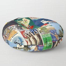 Olympics Montage Floor Pillow