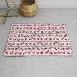 romantic rose pattern – sweet midcentury flowers Rug