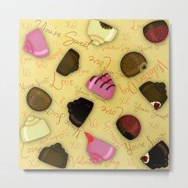 Sweet Valentine - Valentine's Day Candy Pattern Metal Print