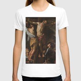 Crucifixion of Saint Andrew - Caravaggio T-shirt