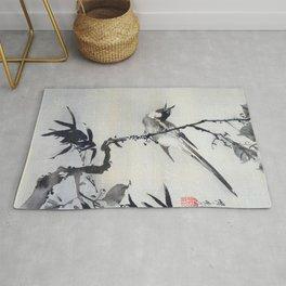 Kawanabe Kyosai - Singing Bird On A Branch - Digital Remastered Edition Rug
