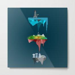 Floating Islands Metal Print