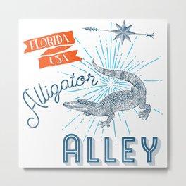 Alligator Alley Swamp Sanctuary Florida Metal Print