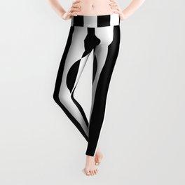 Op Art Striped Circle Leggings