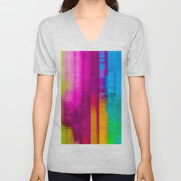 Vertical Rainbow Color Palette Unisex V-Neck