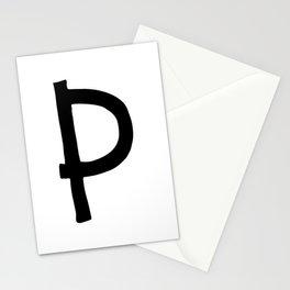 P Monogram (Hand 2) Stationery Cards