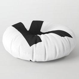 Letter K (Black & White) Floor Pillow