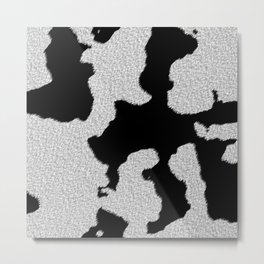 Cowhide black and white pattern Metal Print