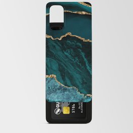 Teal Blue Emerald Marble Landscapes Android Card Case