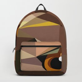 Bird artwork Red tailed hawk  Geometry Backpack