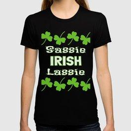 St. Patrick's Day Sassy Irish Lassie Shamrocks T-shirt