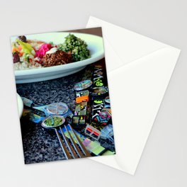 Middle Eastern Swatch Salad Stationery Cards