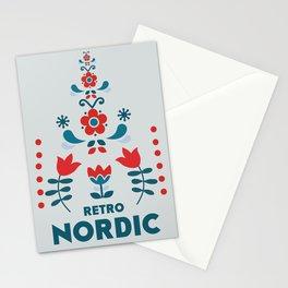 Retro Nordic Folk Stationery Cards