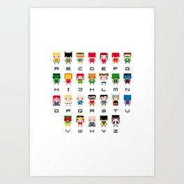Superhero Alphabet Kunstdrucke