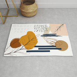 The Abstract Desert Moon Natural Shapes and Lines Rug