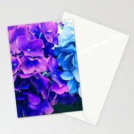 Blue And Purple Hydrangea Flowers Art Photo Stationery Cards