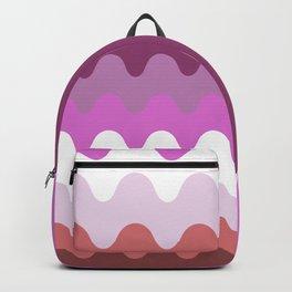 Wavy Lesbian Flag. Backpack