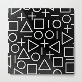 Memphis pattern 67 Metal Print