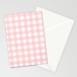 Peachy Blush Gingham  Stationery Cards
