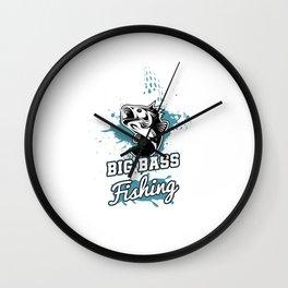 Awesome Big Bass Fishing Largemouth Fisherman Wall Clock