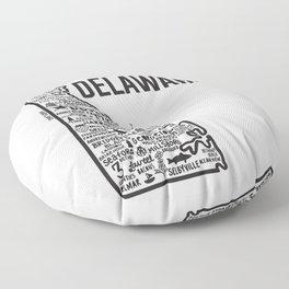 Delaware Map  Floor Pillow