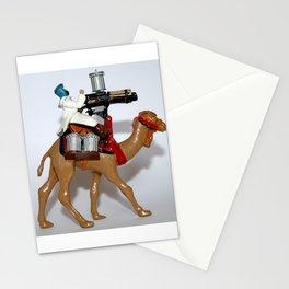 Camel Machinegun Desert Warrior antique toy soldier Stationery Cards