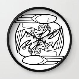 Huginn & Muninn (black) Wall Clock