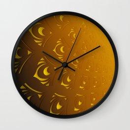 Flora gradient art Wall Clock