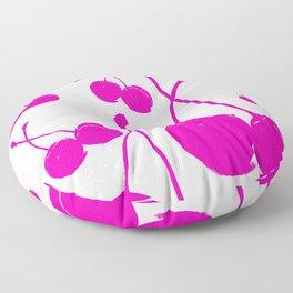 Pink neon Cherry Floor Pillow