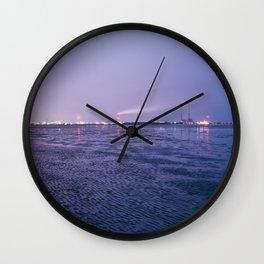 Low Tide, Ringsend, Dublin. Wall Clock