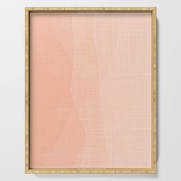 A Touch Of Peach - Soft Geometric Minimalist Serving Tray