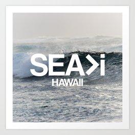SEA>i  |  The Wave Art Print