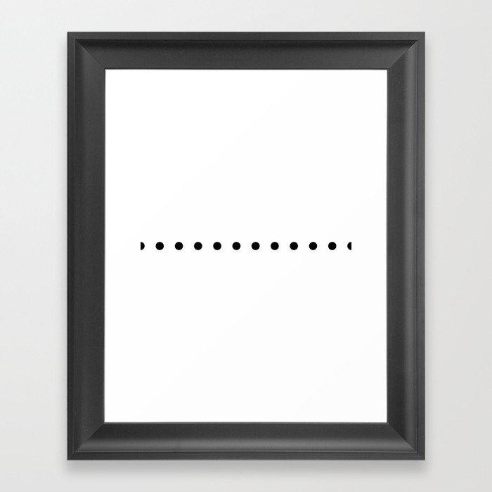 Wall Clock Dots White Gerahmter Kunstdruck