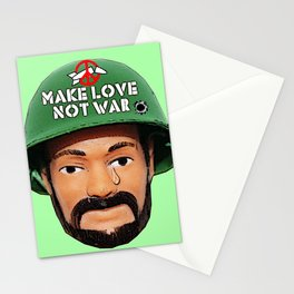 Make Love Not War! Peace Man! Ban The Bomb! Stationery Cards