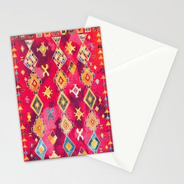 N188 - Lovely Pink Oriental Traditional Boho Moroccan Style Artwork Stationery Cards