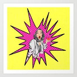 Pop Art Reaction Art Print